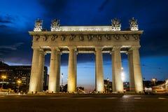 Moskwa triumfalne bramy w Moskwa alei w St Petersburg Obraz Stock