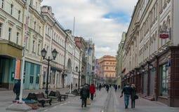 Moskwa ulicy scena Zdjęcia Royalty Free