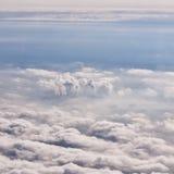 Moskwa w mgle z kominami Zdjęcia Royalty Free
