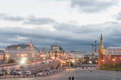Moskwa wieczór ulicy scena Fotografia Royalty Free