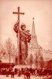 Moskwa zabytek książe Vladimir Obrazy Stock