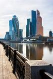 Moskwa zawody międzynarodowi centrum biznesu zdjęcie royalty free