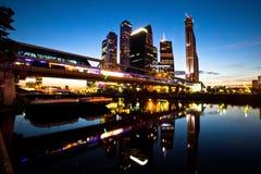 Moskwa zawody międzynarodowe centrum biznesu Fotografia Royalty Free
