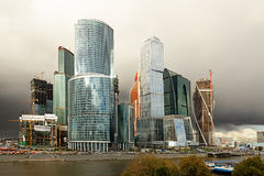 Moskwa zawody międzynarodowi centrum biznesu Zdjęcia Royalty Free