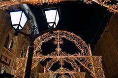 Moskwa zimy bożych narodzeń dekoracja, Rosja Fotografia Stock