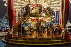 Moskwiczaniny jedzie carousel Obraz Royalty Free
