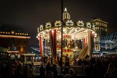 Moskwiczaniny jedzie carousel Fotografia Royalty Free