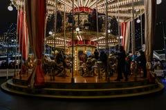 Moskwiczaniny jedzie carousel Fotografia Stock