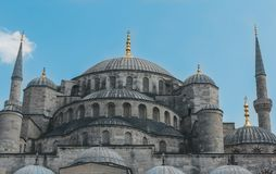 Moslem Blue Mosque Sultan Ahmet Cami in Istanbul Turkey. Color Image of the Moslem Blue Mosque Sultan Ahmet Cami in Istanbul Turkey, Clear Sky Stock Image