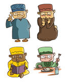 Moslem Cartoon Set Stock Photo
