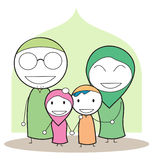 Moslem family Royalty Free Stock Photo