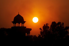 Moslem fortress on the Sunset. In Agra Royalty Free Stock Photography