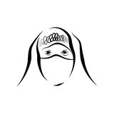 Moslem girl sketch Royalty Free Stock Photography