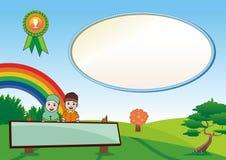 Moslem Kid Diploma - certificate Royalty Free Stock Image