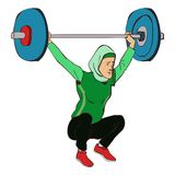 Moslem lifter Royalty Free Stock Photo