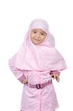 Moslem little girl Stock Photos