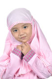 Moslem little girl Royalty Free Stock Photo
