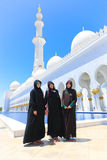 Moslem-Mädchen an der Moschee - Abu Dhabi - Shaiekh Zayed Lizenzfreie Stockbilder
