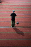 A Moslem Man Praying. At Istiqlal Mosque Stock Photo