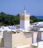 Moslem minaret. Hammamet, Tunisia Stock Images