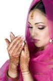 Moslemische Braut im Gebet Lizenzfreies Stockbild