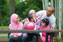 Moslemische Familie Stockfoto
