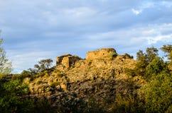 Moslemische Festung in den Ruinen Stockbild