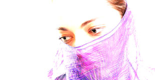 Moslemische Frau 1 lizenzfreie stockbilder