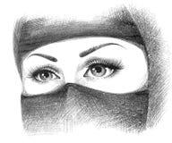 Moslemische Frau im hijab Lizenzfreies Stockfoto
