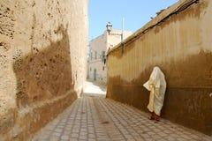 Moslemische Frau in Medina Stockbilder