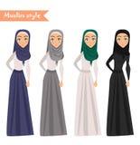 Moslemische Frau trägt hijab Lizenzfreie Stockfotos