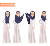 Moslemische Frau trägt hijab Lizenzfreies Stockfoto