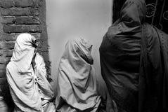 Moslemische Frauen in Indien Lizenzfreies Stockfoto