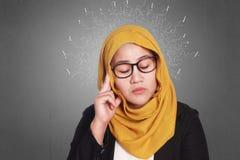 Moslemische Geschäftsfrau Stressed lizenzfreie stockfotos
