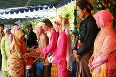 Moslemische Hochzeitszeremonie Stockbild