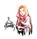 Moslemische Mädchen salam-u-alaikum Geste islamisch - wie Sie sind Lizenzfreies Stockfoto