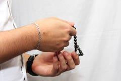 Moslemische Männer betet Stockfotos