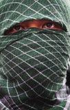Moslemische Männer, die Maske tragen Stockfoto