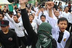 Moslemische Männer, die Maske tragen Lizenzfreies Stockbild