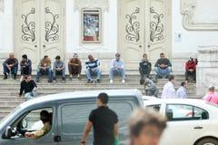 Moslemische Männer in Tunis Stockbilder