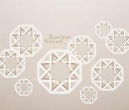 Moslemische Papiergraphiken des Vektor-3D Lizenzfreie Stockfotos