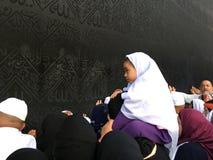 Moslemische Pilger, von allen auf der ganzen Welt, rotierend um Stockfoto