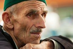 Moslemischer alter Mann stockbild