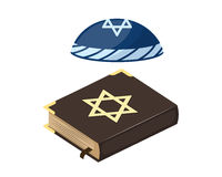 Moslemischer Traditionsislamhutquelljudebibelbuchchristentums-Kirchenjude und heilige alte traditionelle Geschichte Lizenzfreie Stockbilder