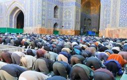 Moslemisches Freitag-Massengebet Stockbild