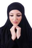 Moslemisches junge Frau tragendes hijab Lizenzfreie Stockfotografie