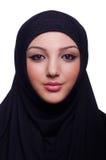 Moslemisches junge Frau tragendes hijab Lizenzfreies Stockfoto