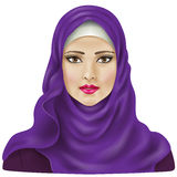 Moslemisches Mädchen lizenzfreie abbildung