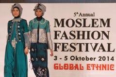 Moslemisches Mode-Festival 2014 Lizenzfreie Stockfotos