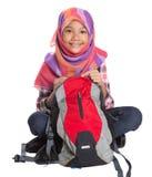 Moslemisches Schulmädchen mit Schultasche VIII lizenzfreies stockfoto